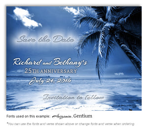 Evening Tropical Breeze Save the Date Anniversary Magnet