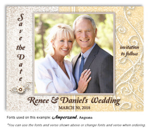 Gold Dressed Up Save the Date Wedding Photo Magnet