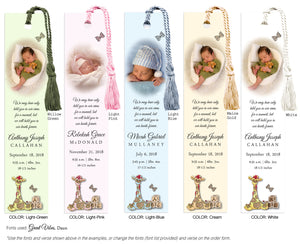 Infant/Child Memorial Photo Bookmark (book mark)
