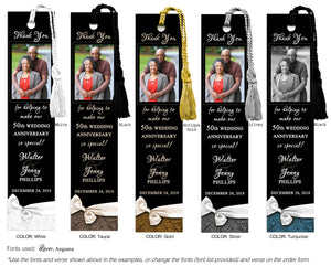 Anniversary Photo Bookmark
