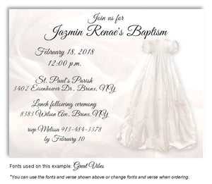 White Girl Gown Invitation Baptism Magnet