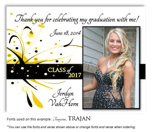 Yellow Thank You Photo Graduation Magnet