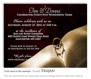 Wine Love and Faith Invitation Anniversary Magnet