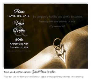 Brown Love and Faith Save the Date Anniversary Magnet