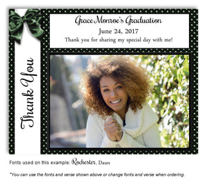 Black-Green Thank You Photo Graduation Magnet
