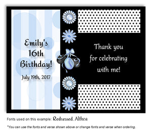 Blue Party Time Thank You Birthday Magnet