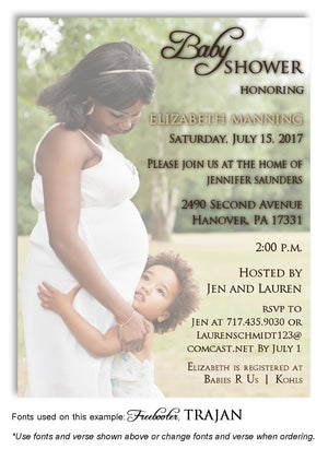 Color Faded Invitation Photo Baby Shower Magnet