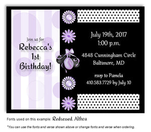 Lavender Party Time Invitation Birthday Magnet