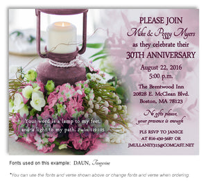 Mauve Love Enlightened Invitation Anniversary Magnet