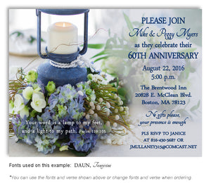 Blue Love Enlightened Invitation Anniversary Magnet