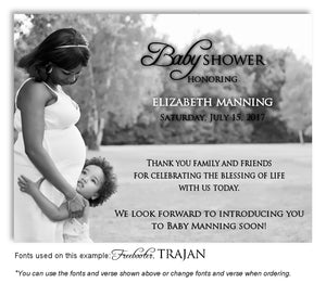 Black and White Thank  You Photo Baby Shower Magnet