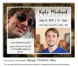 Bronze Invitation Photo Graduation Magnet