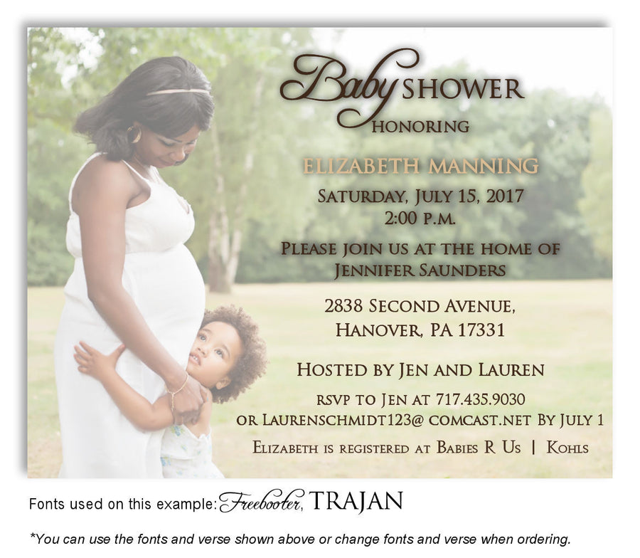Color Invitation Photo Baby Shower Magnet