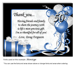 Blue Time to Celebrate Thank You Birthday Magnet