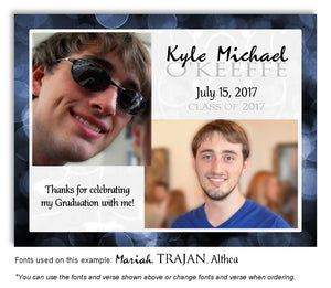 Navy Thank You Photo Graduation Magnet