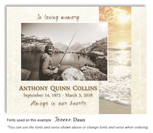Sunrise Photo Memorial Magnet