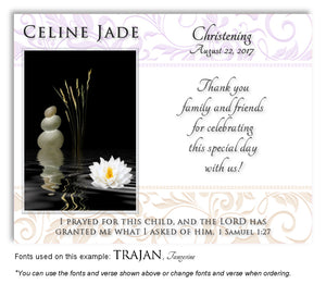 Lavender-Cream Living Waters Thank You Baptism Magnet
