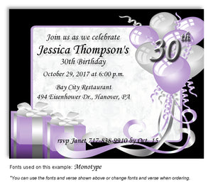 Lavender Time to Celebrate Invitation Birthday Magnet