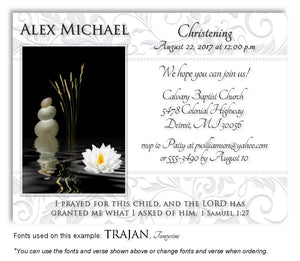 Light Gray Living Waters Invitation Baptism Magnet