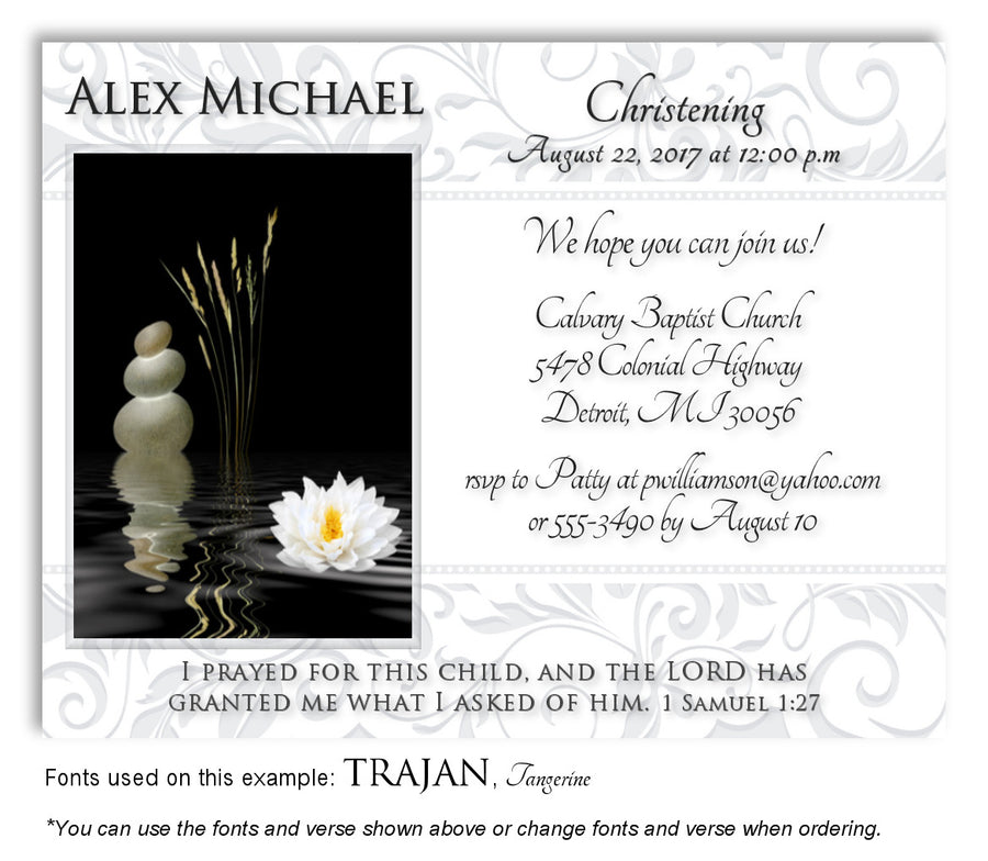 Light Gray-Light Blue Living Waters Invitation Baptism Magnet