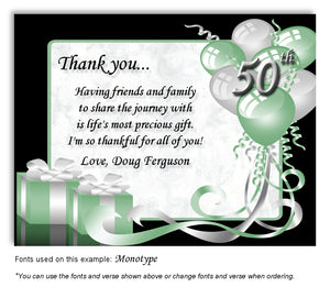 Mint Green Time to Celebrate Thank You Birthday Magnet
