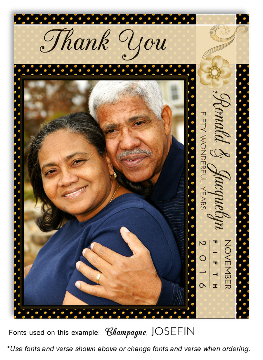Mauve Polka Dot Invitation Photo Anniversary Magnet