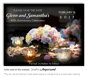 Pastel Bouquet of Lights Save the Date Anniversary Magnet