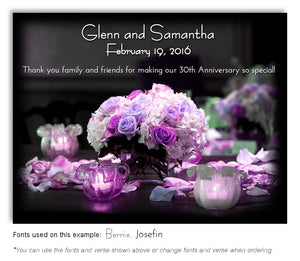 Pink and Lavender Bouquet of Lights Thank You Anniversary Magnet
