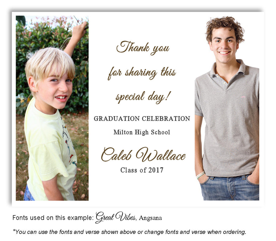 White Invitation Photo Graduation Magnet