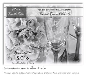 Black and White Elegant Occasion Save the Date Anniversary Magnet