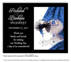 Blue Toast for Two Thank You Wedding Magnet