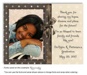 Brown Thank You Photo Graduation Magnet