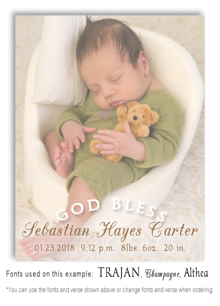 Color Photo Birth Announcement Magnet