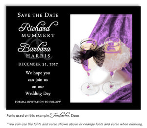 Lavender Toast for Two Save the Date Wedding Magnet