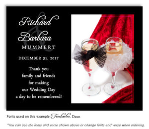 Red Toast for Two Thank You Wedding Magnet