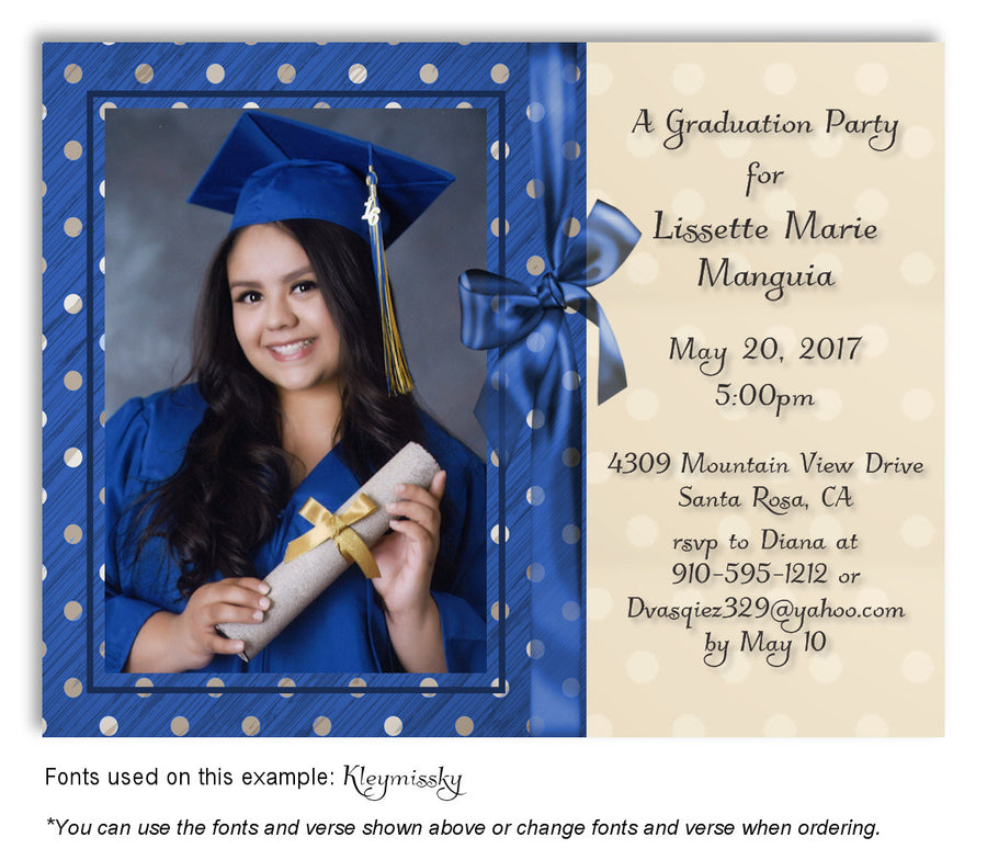 Dusty Blue Thank You Photo Graduation Magnet