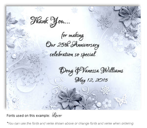 Black and White Garden Party Thank You Anniversary Magnet