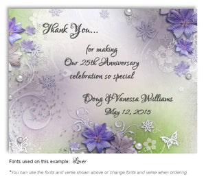 Blue Violet Garden Party hank You Anniversary Magnet