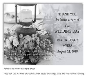 Black and White Lantern Thank You Wedding Magnet
