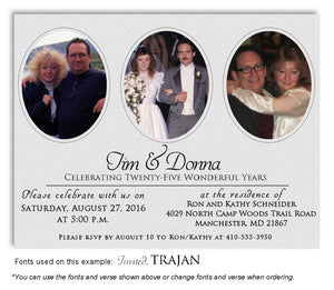 Silver Tastefully Simple Invitation Anniversary Photo Magnet