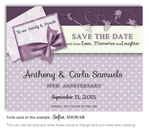 16-Orchid-Polkadots-and-Bow-Save-the-Date-Anniversary-Magnet
