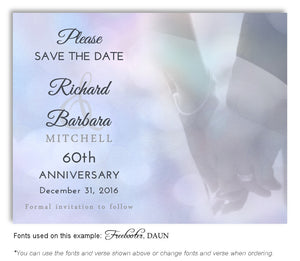 Blue Hand in Hand Save the Date Anniversary Magnet