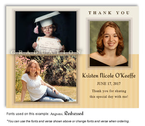 Cream Gold Thank You Photo Graduation Magnet