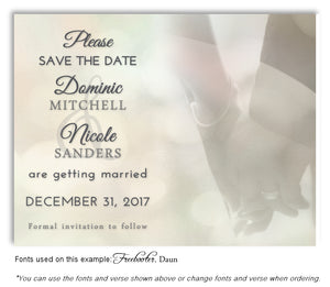 Ivory Hand in Hand Save the Date Wedding Magnet