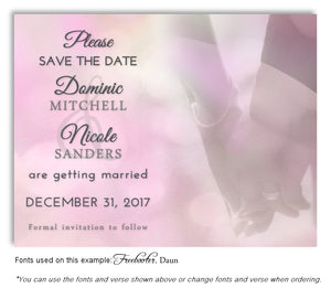 Pink Hand in Hand Save the Date Wedding Magnet