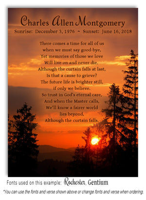 Evening Sky Memorial Magnet