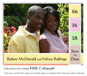 Pastel Save the Date Wedding Photo Magnet
