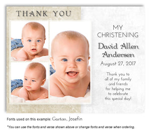Tan Two Tone Thank You Photo Baptism Magnet