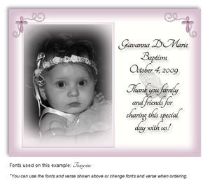 Light Plum Prayer Thank You Photo Baptism Magnet