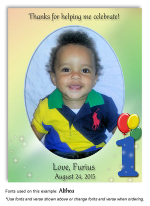Primary Colors Numbered Thank You Photo Birthday Magnet